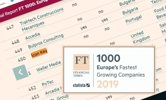 Icon Key SA in the FT1000 ranking by the Financial Times